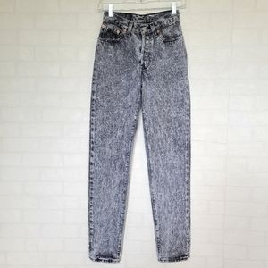Vintage Levi's 501 High Waist Black Acid Wash Jean